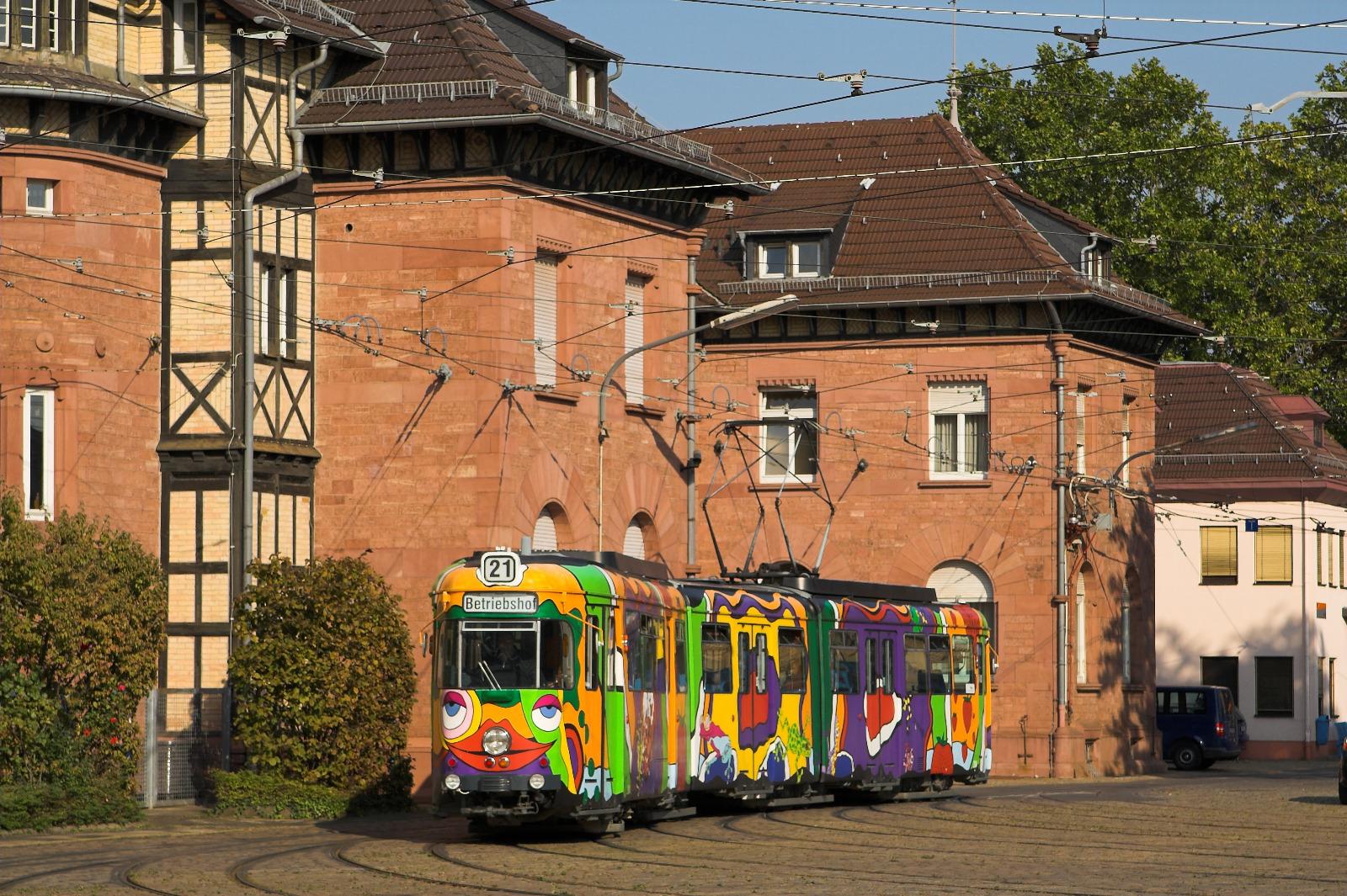 Tw 204 im Betriebshof Heidelberg